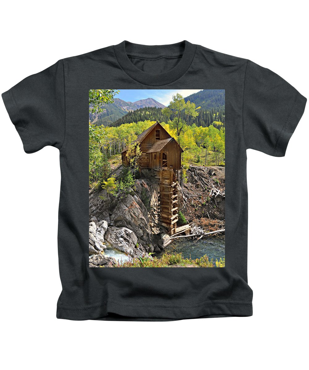 Mill Kids T-Shirt featuring the photograph Crystal Mill 4 by Marty Koch