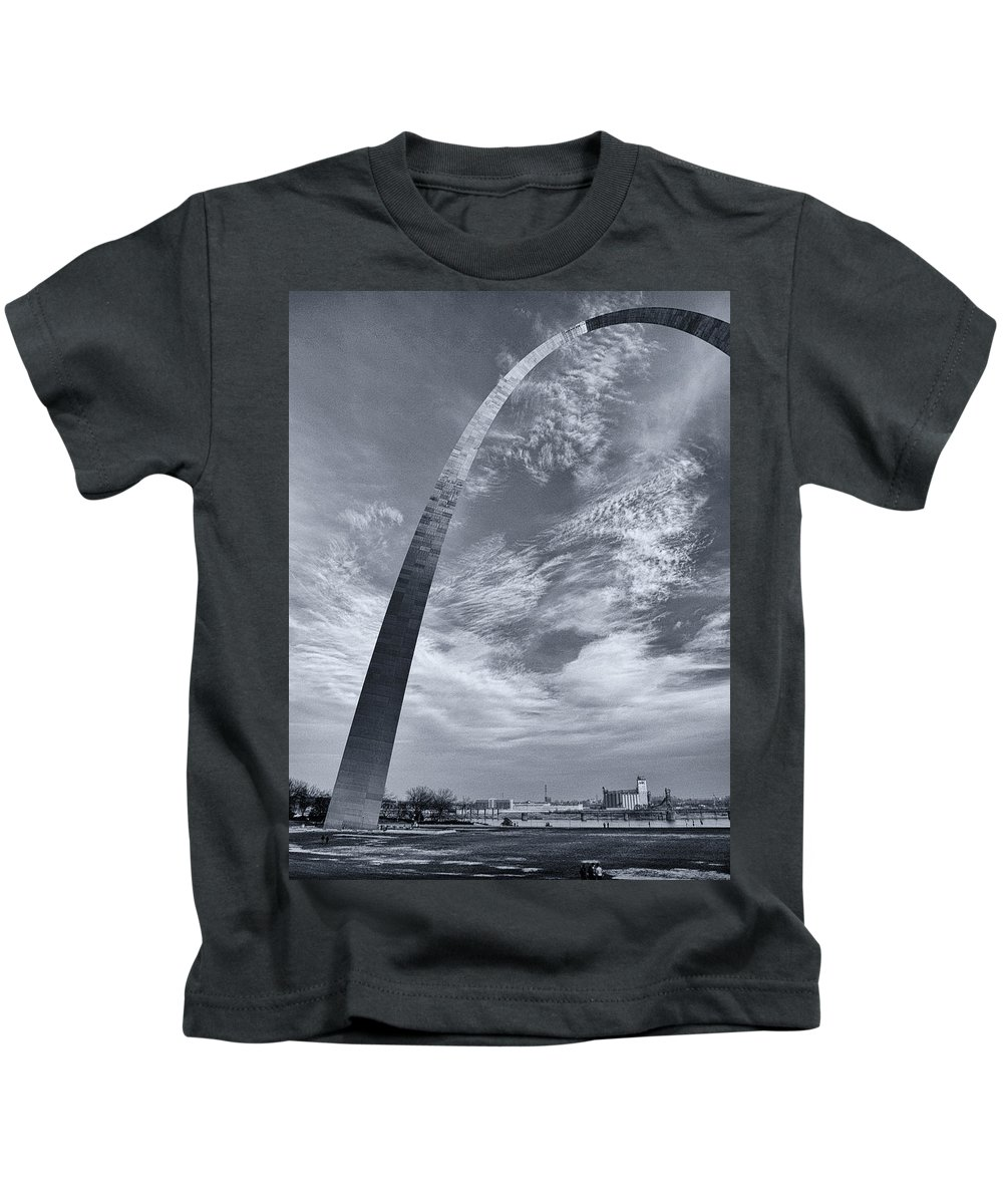 Arch Kids T-Shirt featuring the photograph Curved Arch by Joshua House