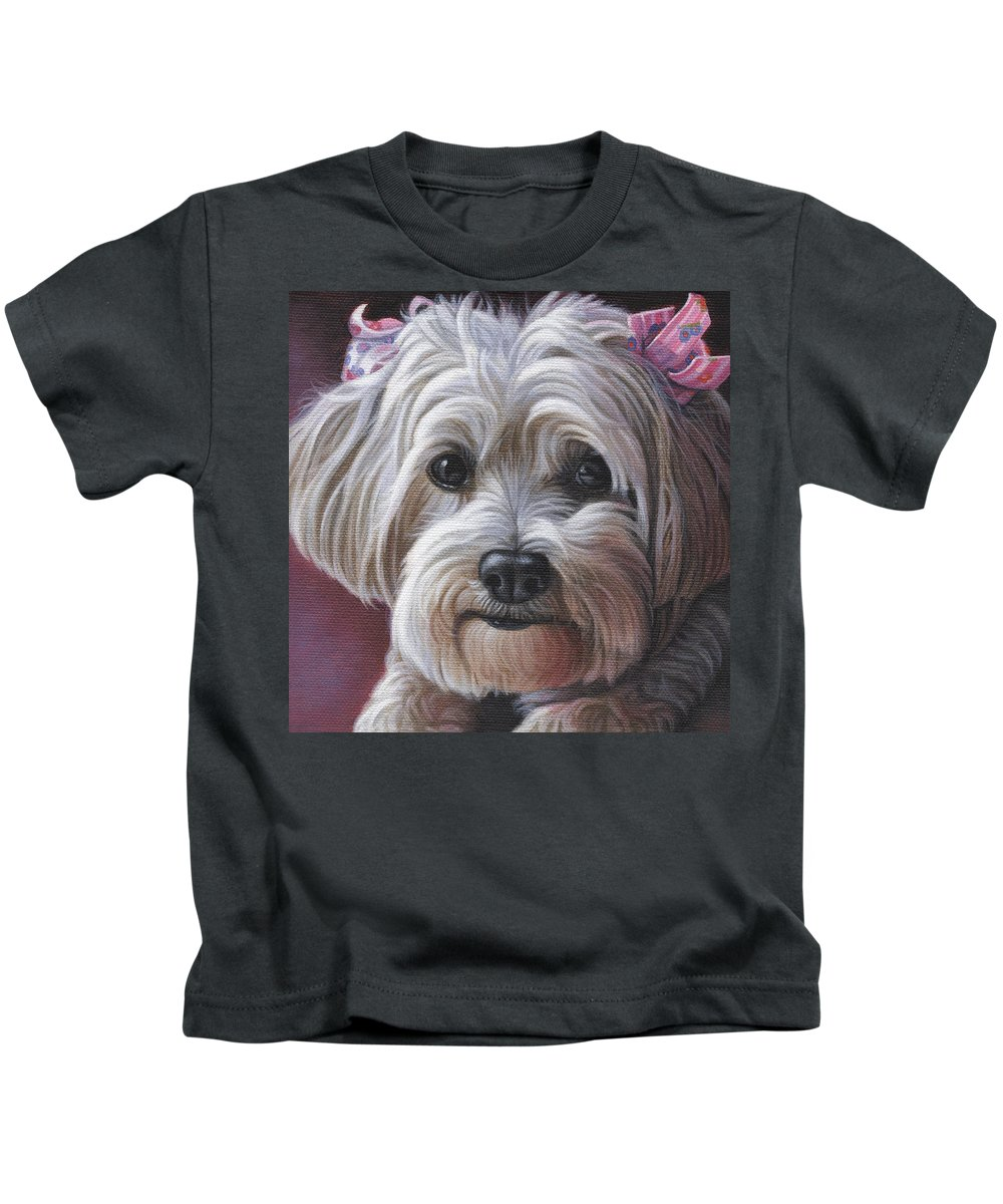 Daisy Kids T-Shirt featuring the painting Daisy by Steven Tetlow