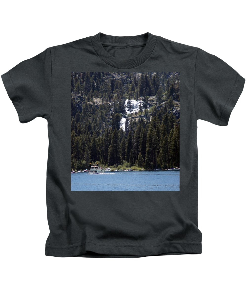 Usa Kids T-Shirt featuring the photograph Eagle Falls by LeeAnn McLaneGoetz McLaneGoetzStudioLLCcom