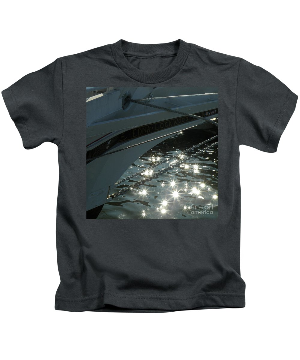 Nautical Kids T-Shirt featuring the photograph Edna's Bow Lights by Lainie Wrightson