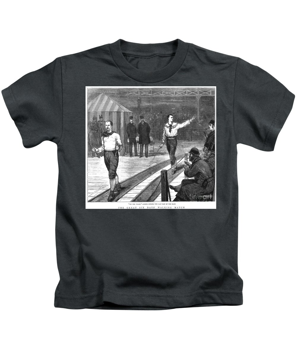 1877 Kids T-Shirt featuring the photograph Edward Payson Weston by Granger