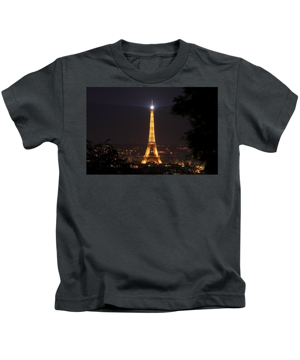Eiffel Tower Kids T-Shirt featuring the photograph Eiffel Tower by Wes and Dotty Weber