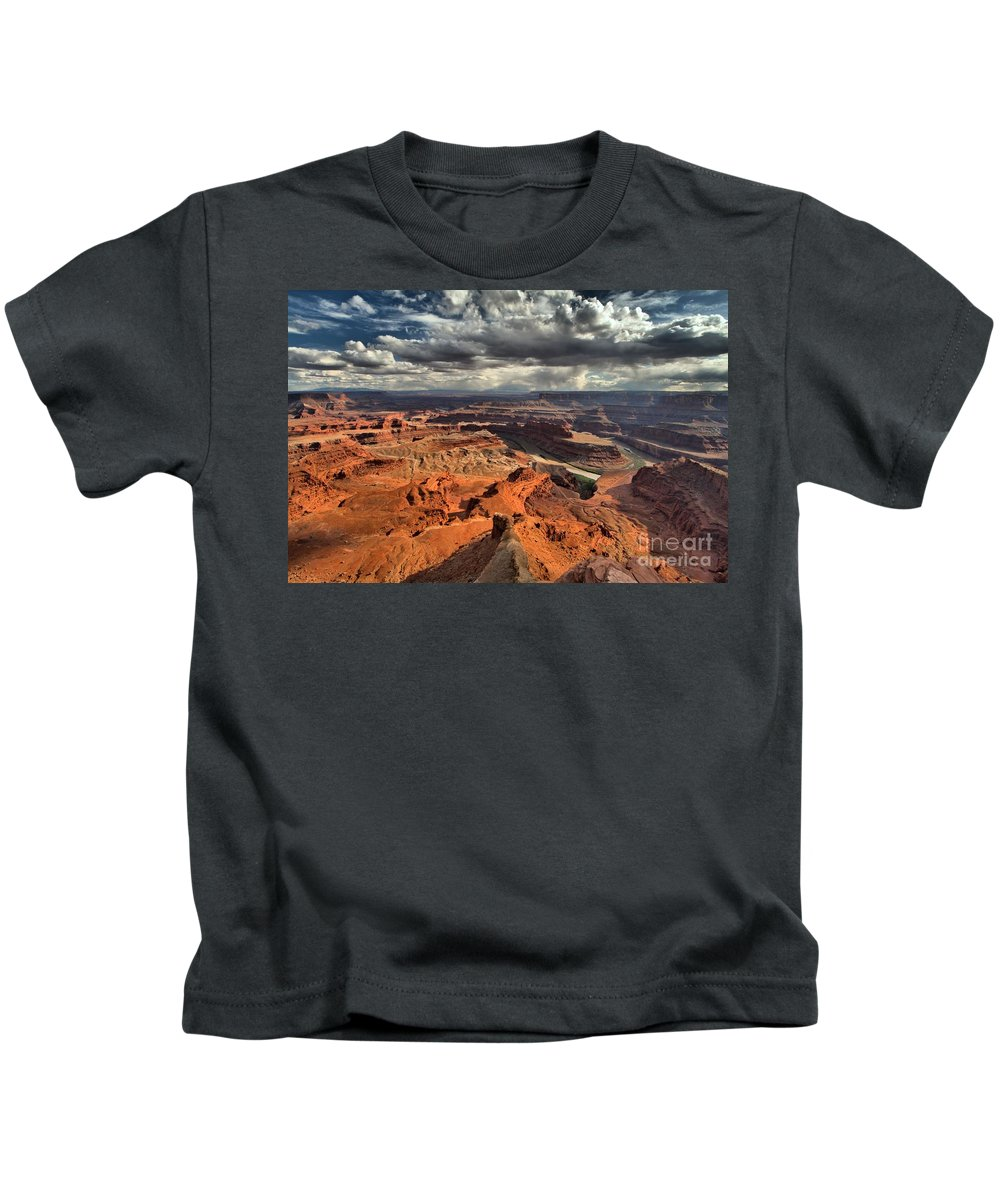 Dead Horse Point Kids T-Shirt featuring the photograph Endless Utah Canyons by Adam Jewell