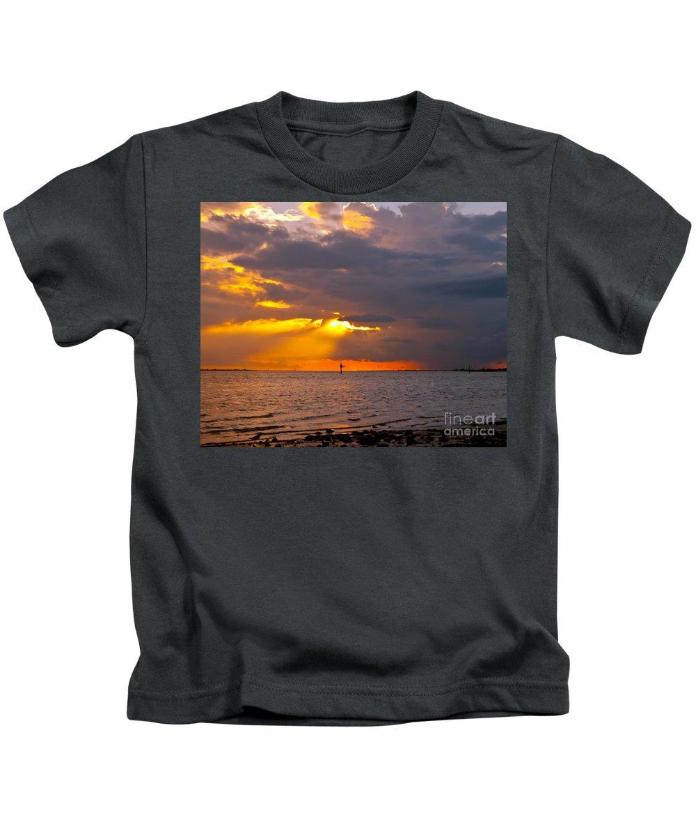 Sunset Kids T-Shirt featuring the photograph Enlightenment by Stephen Whalen
