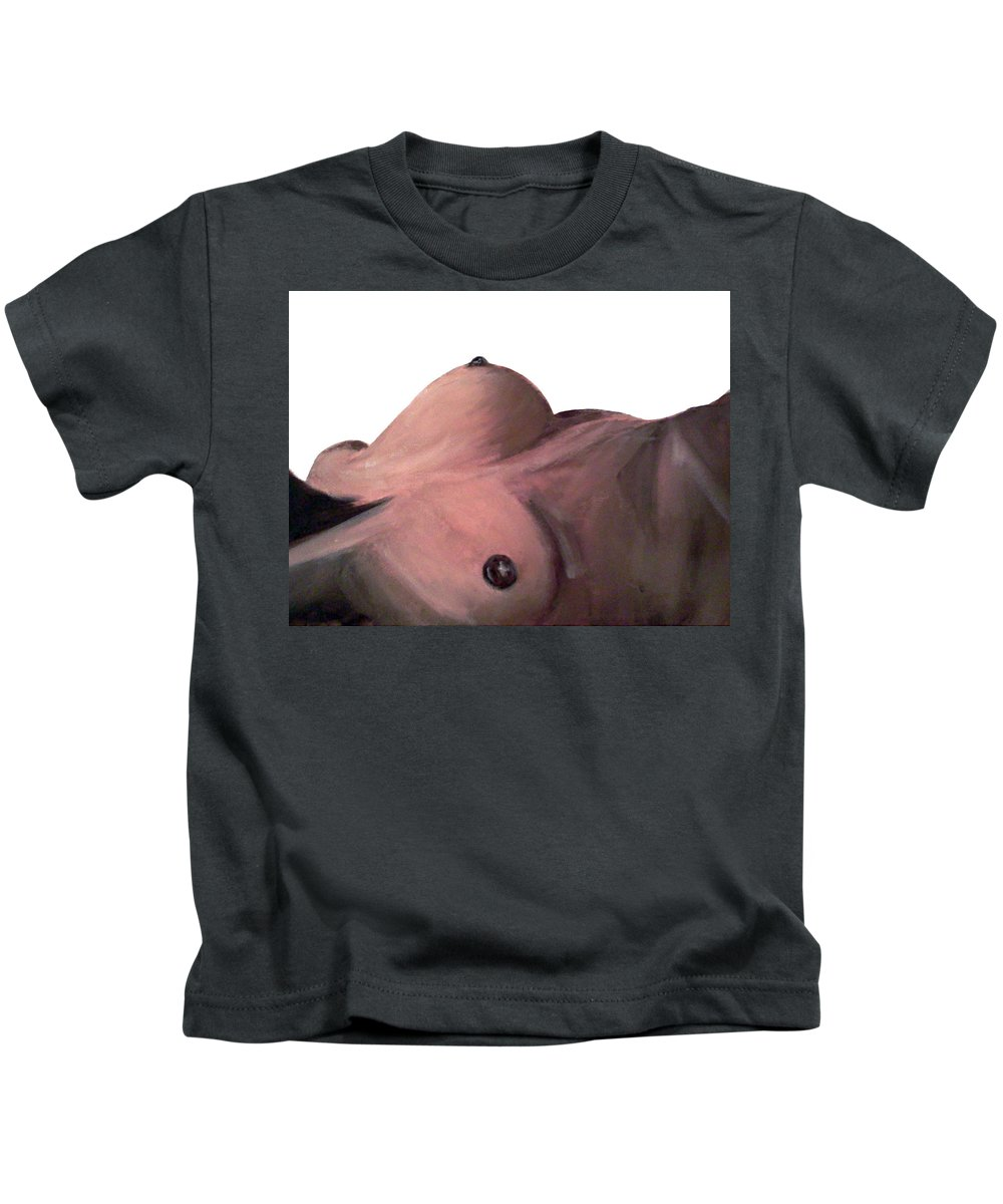 Women Kids T-Shirt featuring the painting Eye View 1 by Kayon Cox