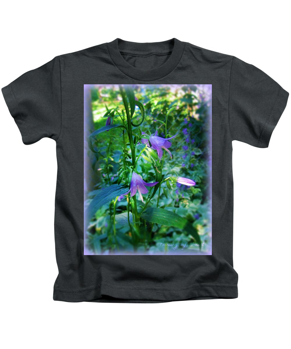 Flowers Kids T-Shirt featuring the photograph Fairy Hats by Deahn   Benware