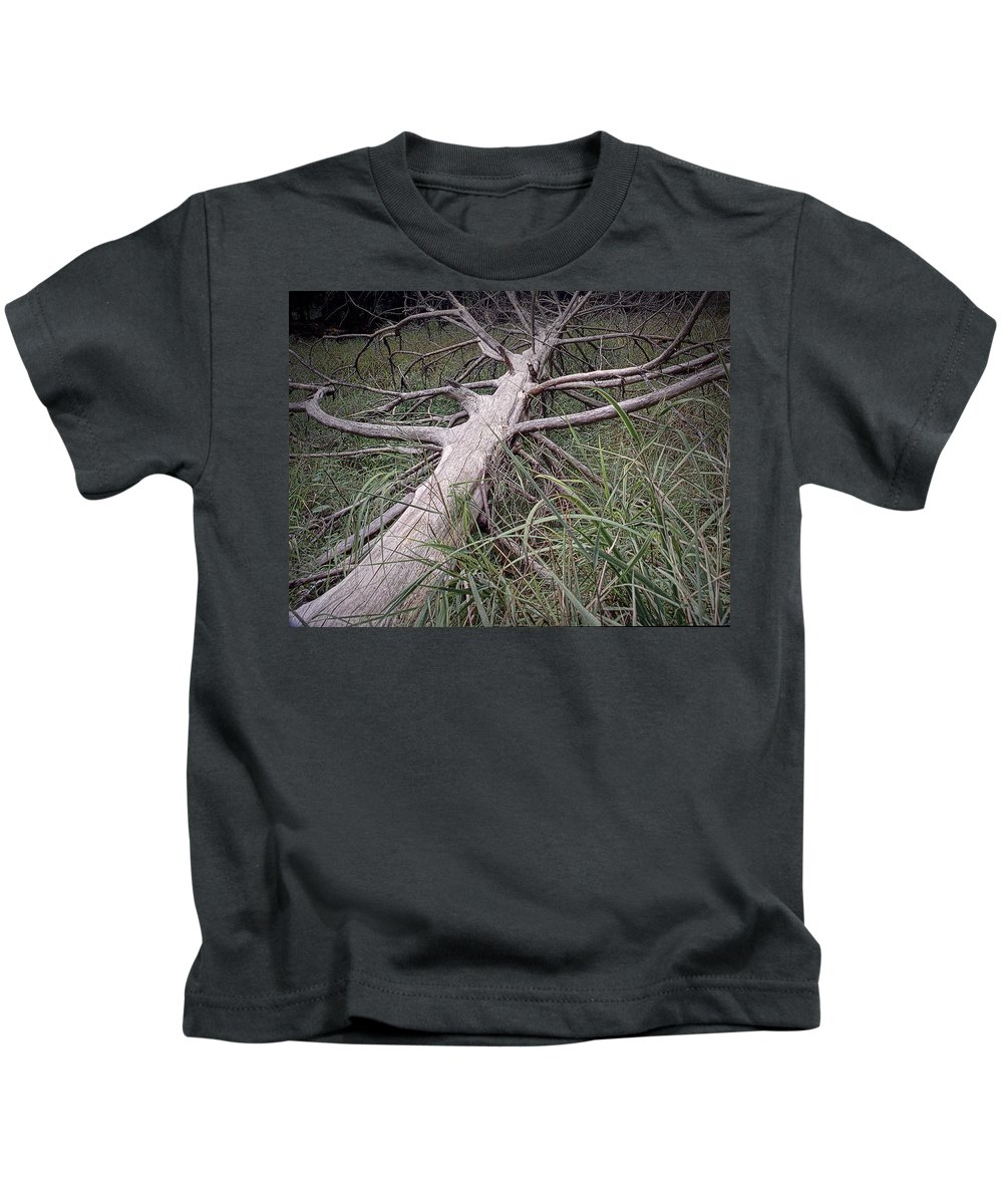 Art Kids T-Shirt featuring the photograph Fallen Pine Tree by Randall Nyhof