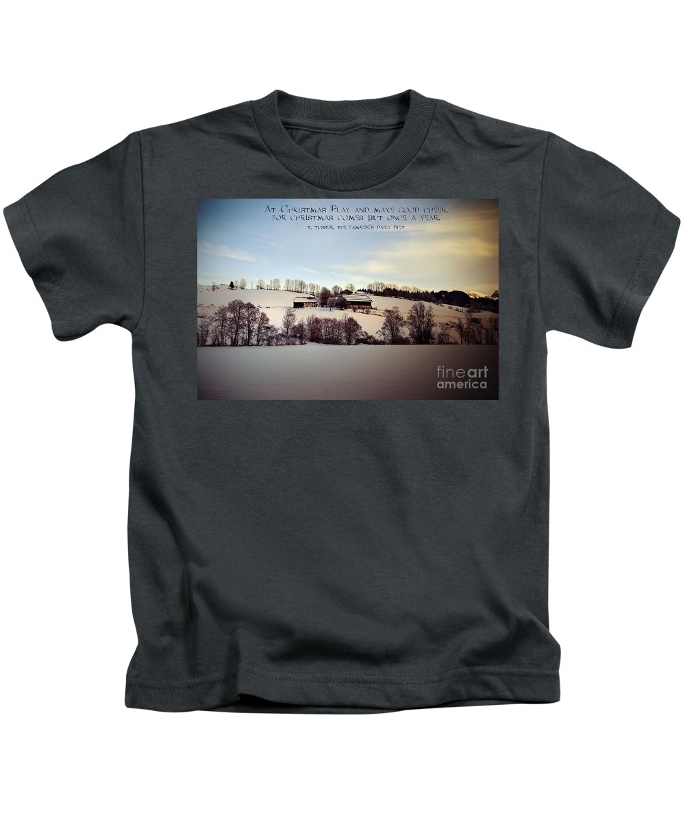 Winter Kids T-Shirt featuring the photograph Farmer's Christmas by Sabine Jacobs