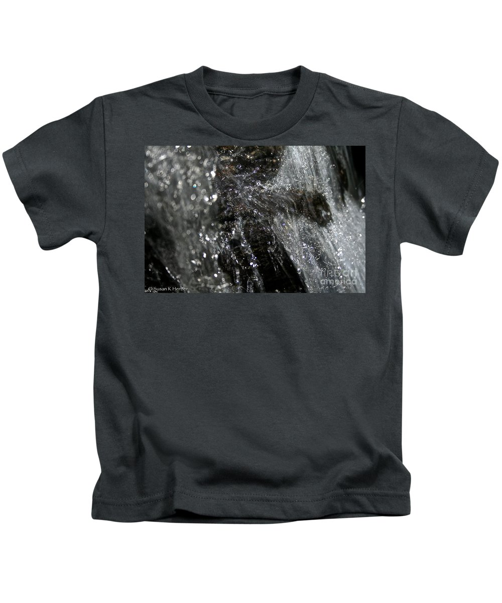 Rock Kids T-Shirt featuring the photograph Fast Water by Susan Herber