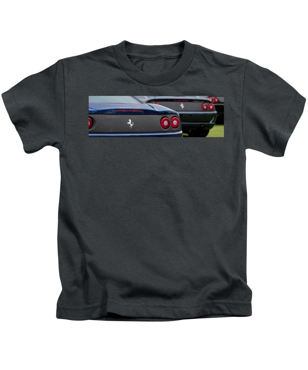 Ferrari Kids T-Shirt featuring the photograph Ferraris 7 by Jill Reger