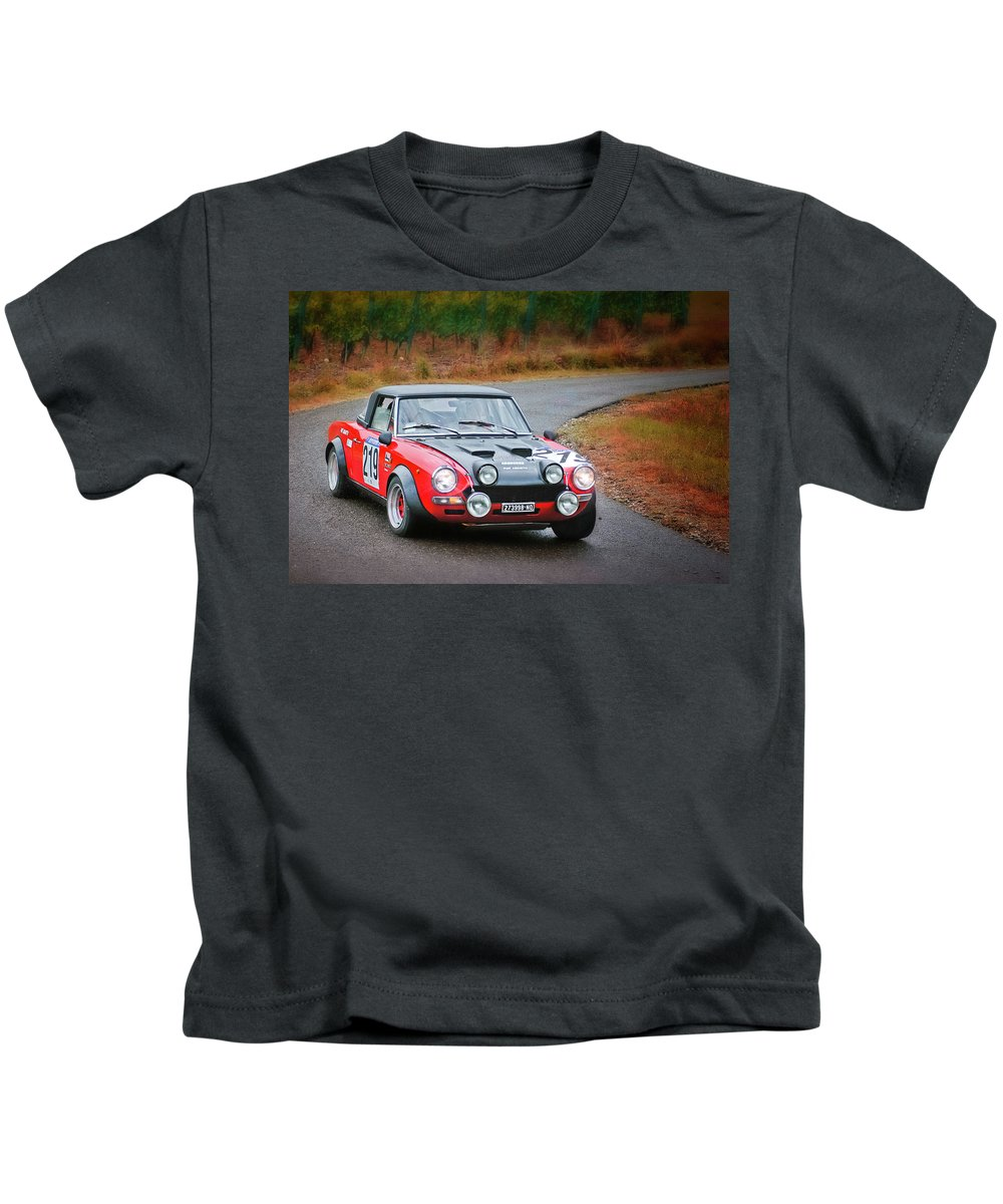 Car Kids T-Shirt featuring the photograph Fiat Abarth by Alain De Maximy