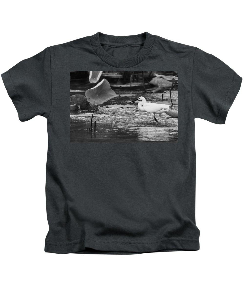 Corroboree Billabong Kids T-Shirt featuring the photograph Fishing Spot by Douglas Barnard