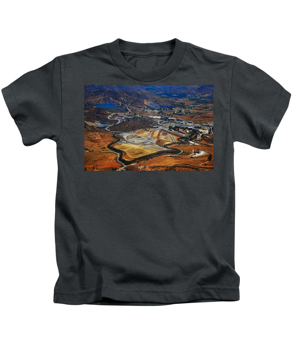Spain Kids T-Shirt featuring the photograph Flying Over Spanish Land II by Jenny Rainbow