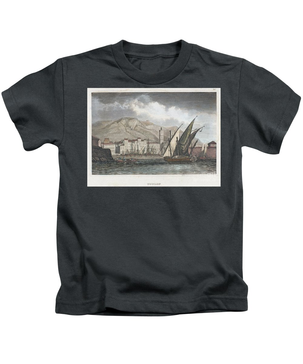 1850 Kids T-Shirt featuring the photograph France: Toulon, C1850 by Granger