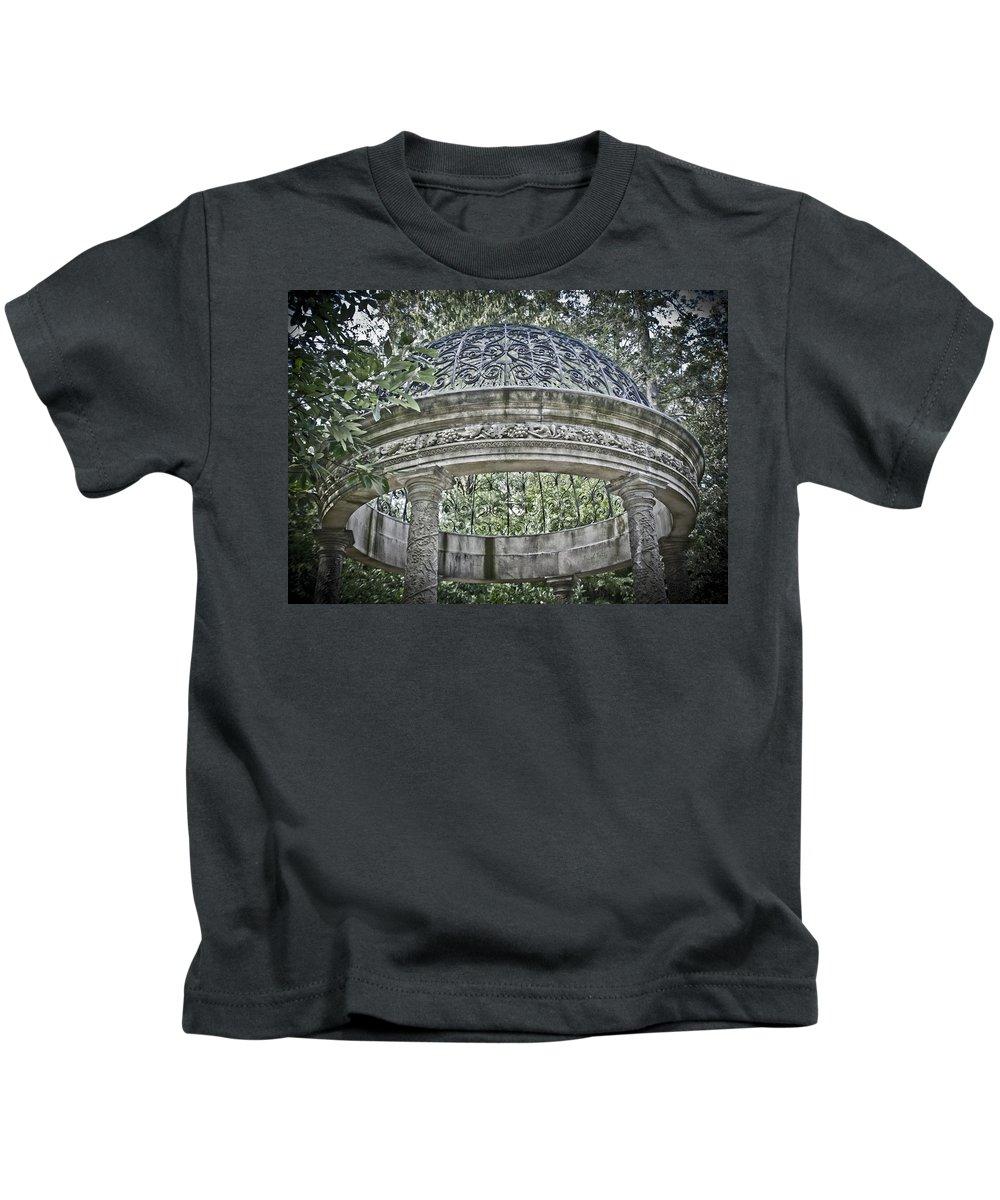 Gazebo Kids T-Shirt featuring the photograph Gazebo At Longwood Gardens by Trish Tritz