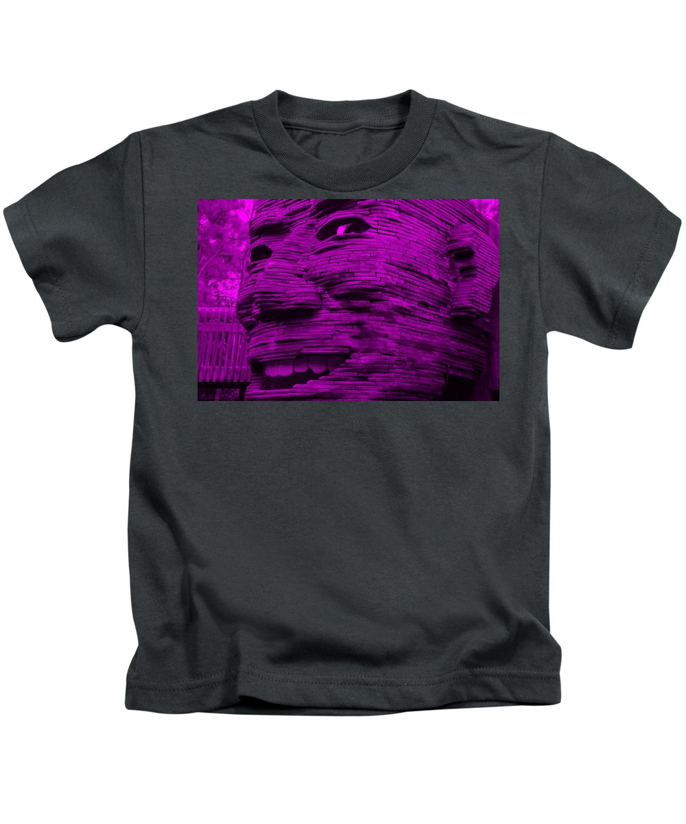 Architecture Kids T-Shirt featuring the photograph Gentle Giant In Purple by Rob Hans