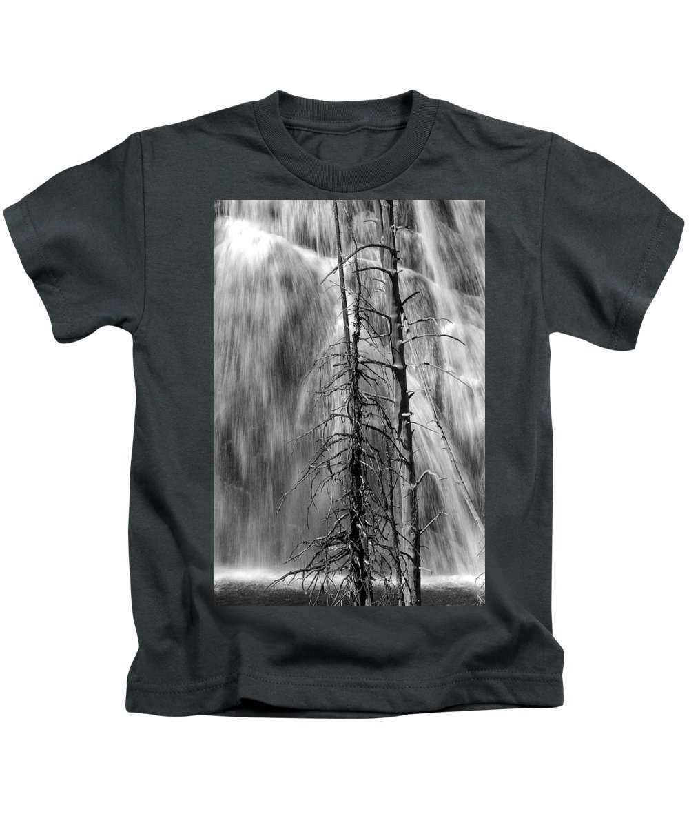 Art Kids T-Shirt featuring the photograph Gibbons Falls In Yellowstone National Park by Randall Nyhof