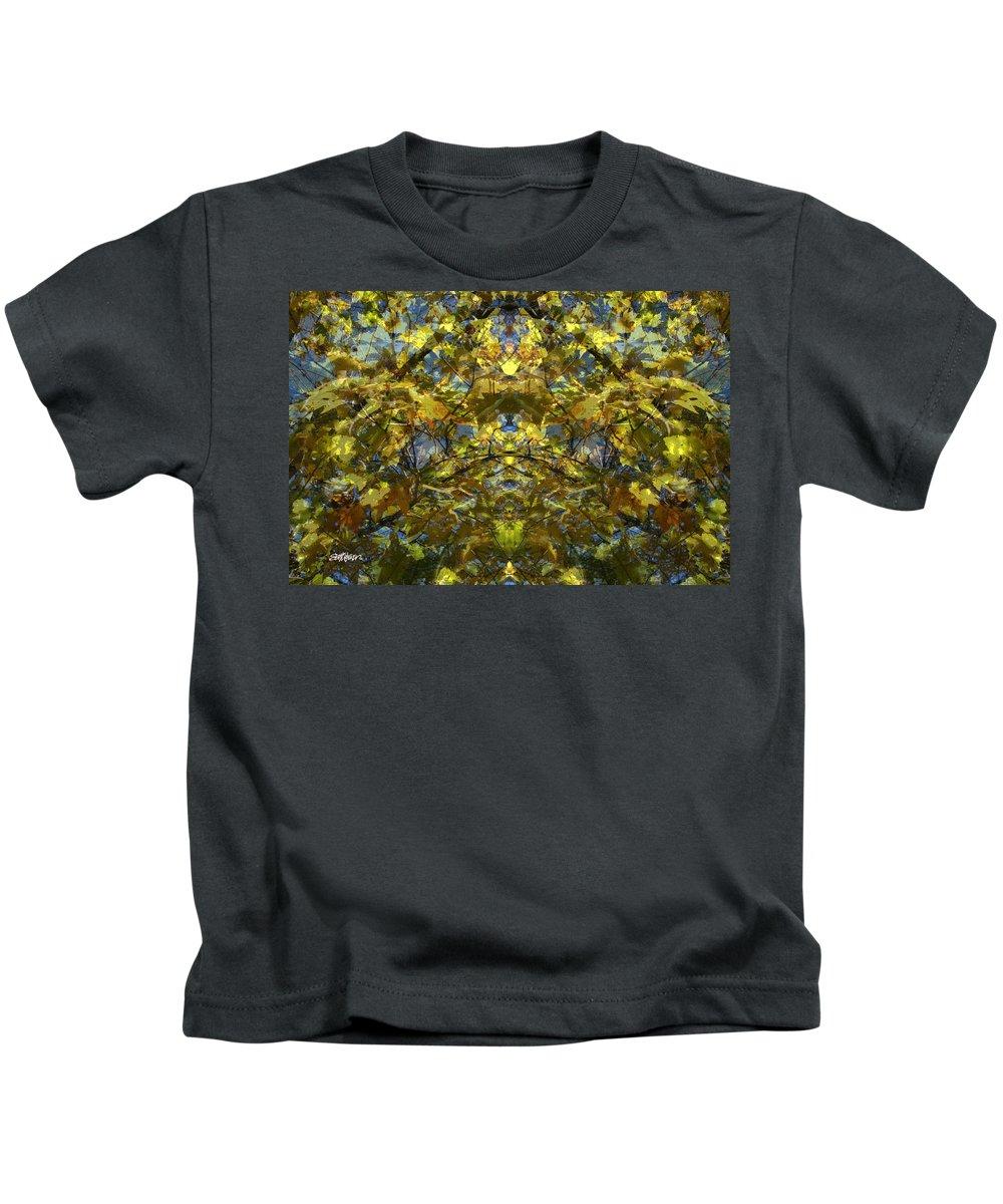 Golden Rorschach Kids T-Shirt featuring the photograph Golden Rorschach by Seth Weaver
