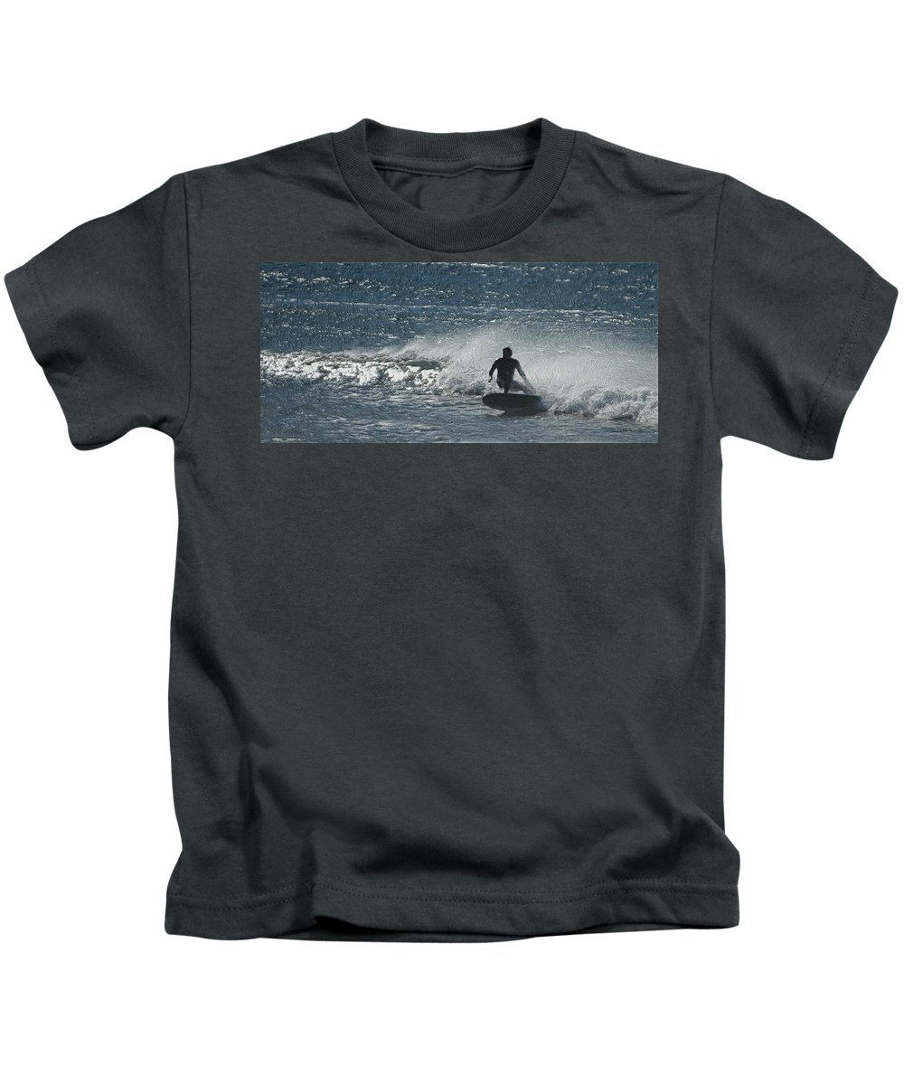 Surf Kids T-Shirt featuring the photograph Gone Surfing by Ernie Echols