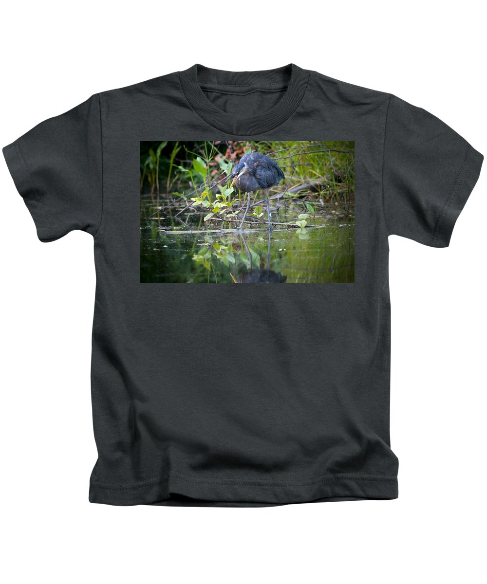Heron Kids T-Shirt featuring the photograph Great Blue Heron 2 by Martin Cooper