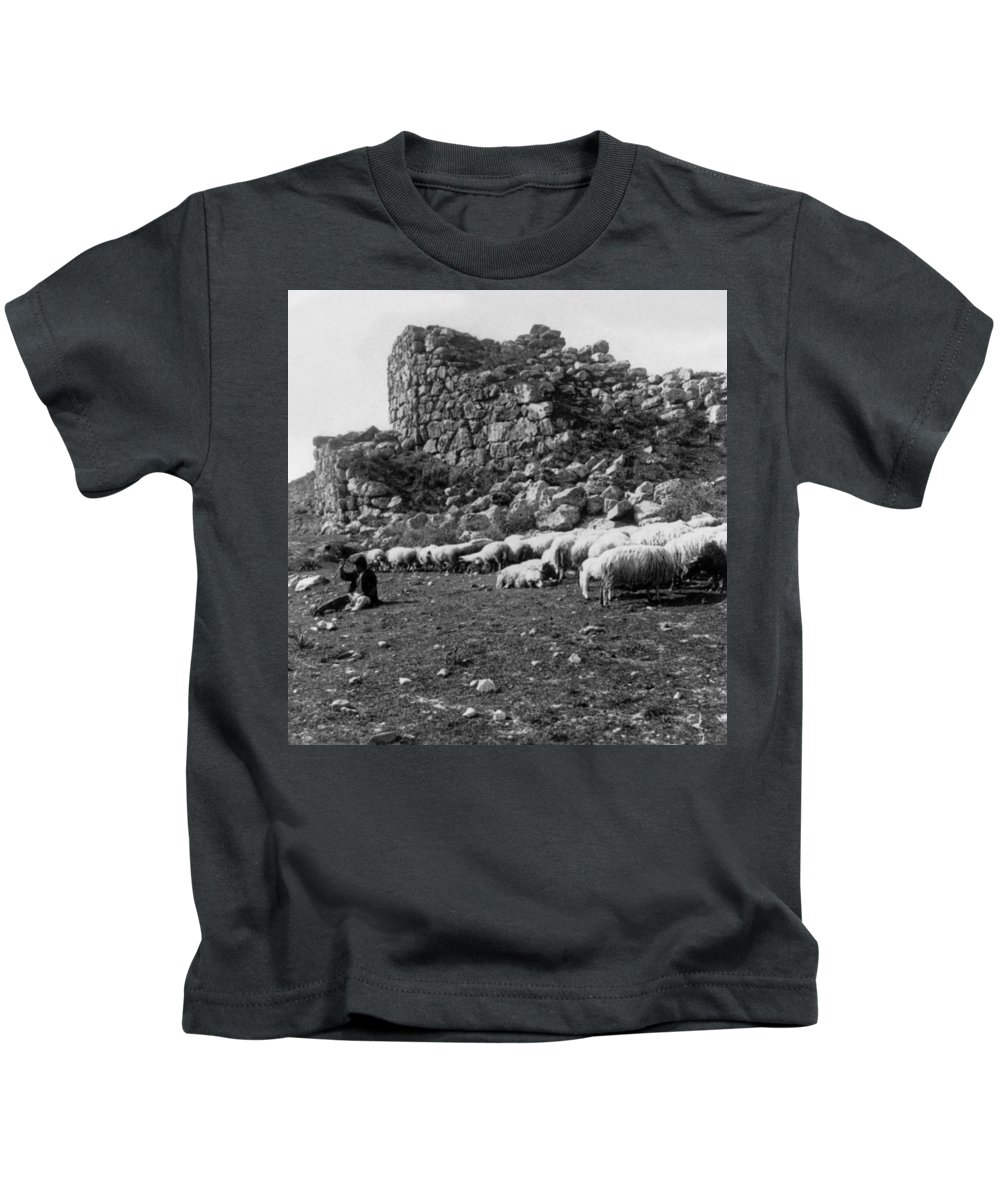 great Tower Of Tiryns Kids T-Shirt featuring the photograph Great Tower Of Tiryns - Greece - Birthplace Of Hercules by International Images