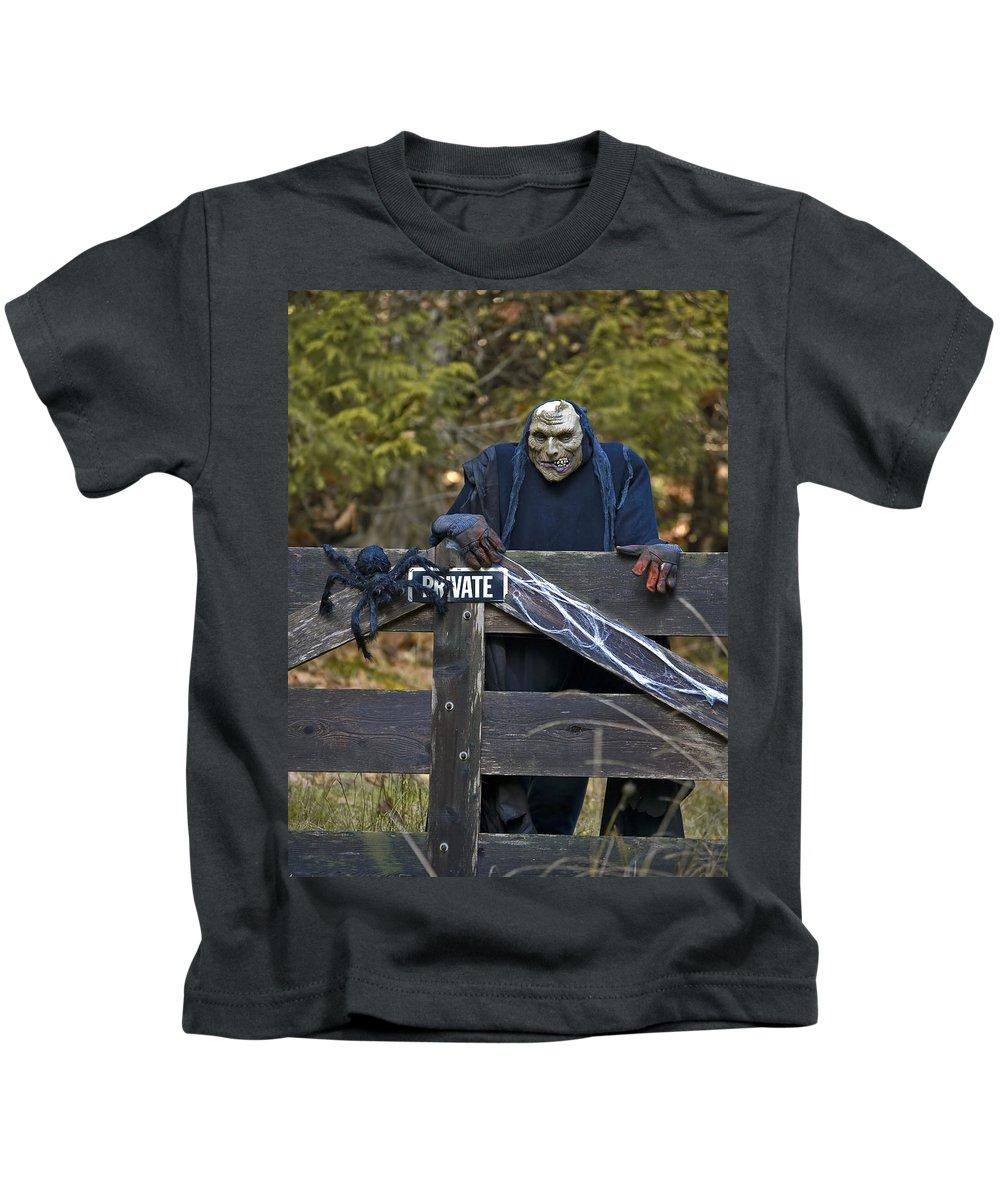 Halloween Kids T-Shirt featuring the photograph Halloween Goblin by Derek Holzapfel