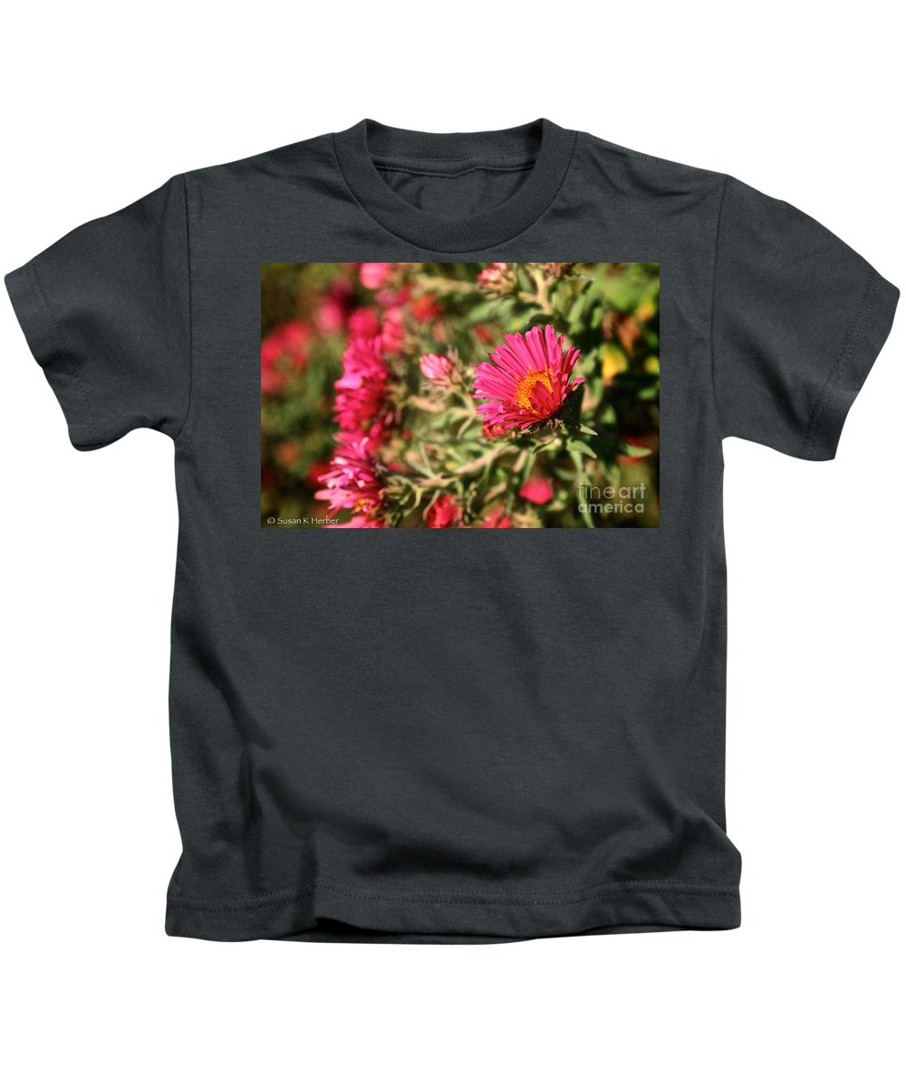 Flower Kids T-Shirt featuring the photograph Happy Aster by Susan Herber