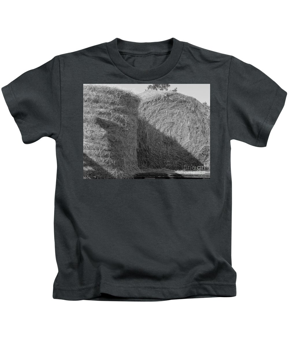 Hay Kids T-Shirt featuring the photograph Hay by Michelle Powell