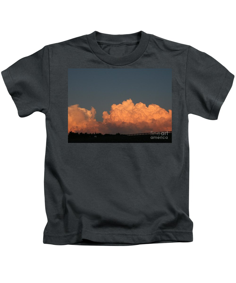 Sunset Kids T-Shirt featuring the photograph Heavens Gate by Neal Eslinger