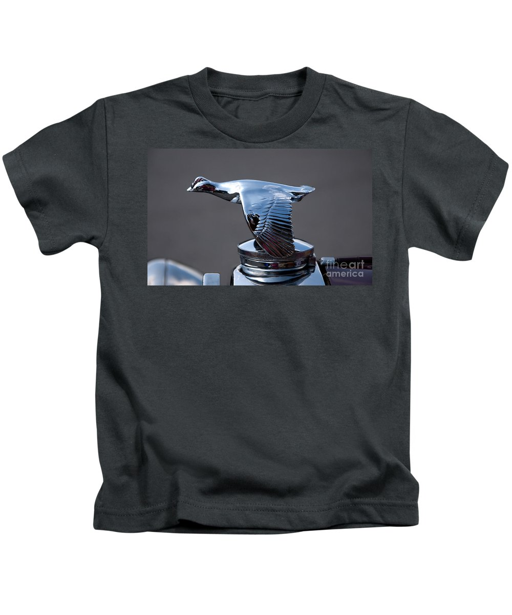 Car Kids T-Shirt featuring the photograph Hood Ornament by Vivian Christopher