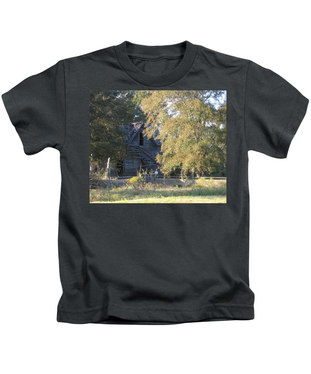 Kids T-Shirt featuring the photograph House Alone by Amy Hosp