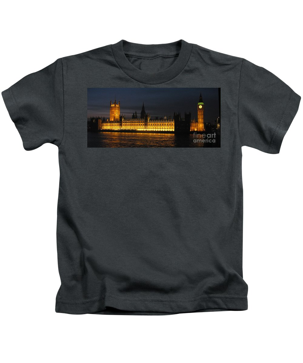 Houses Of Parliament Kids T-Shirt featuring the photograph Houses Of Parliament by Jack Schultz