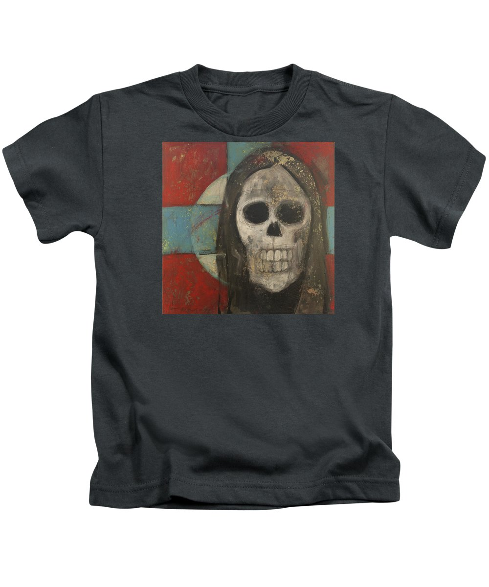 Skull Kids T-Shirt featuring the painting Icon No 9 by Tim Nyberg