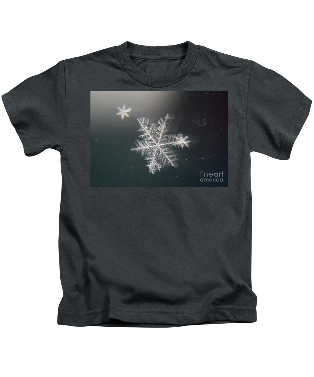 Snowflakes Kids T-Shirt featuring the photograph Icy by Heather Applegate