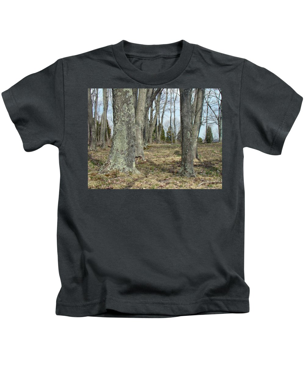 Trees Kids T-Shirt featuring the photograph Imagination Pathway by Mother Nature