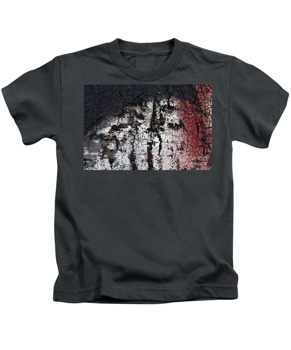 Abstract Kids T-Shirt featuring the photograph Industrial Painting by Jannis Werner