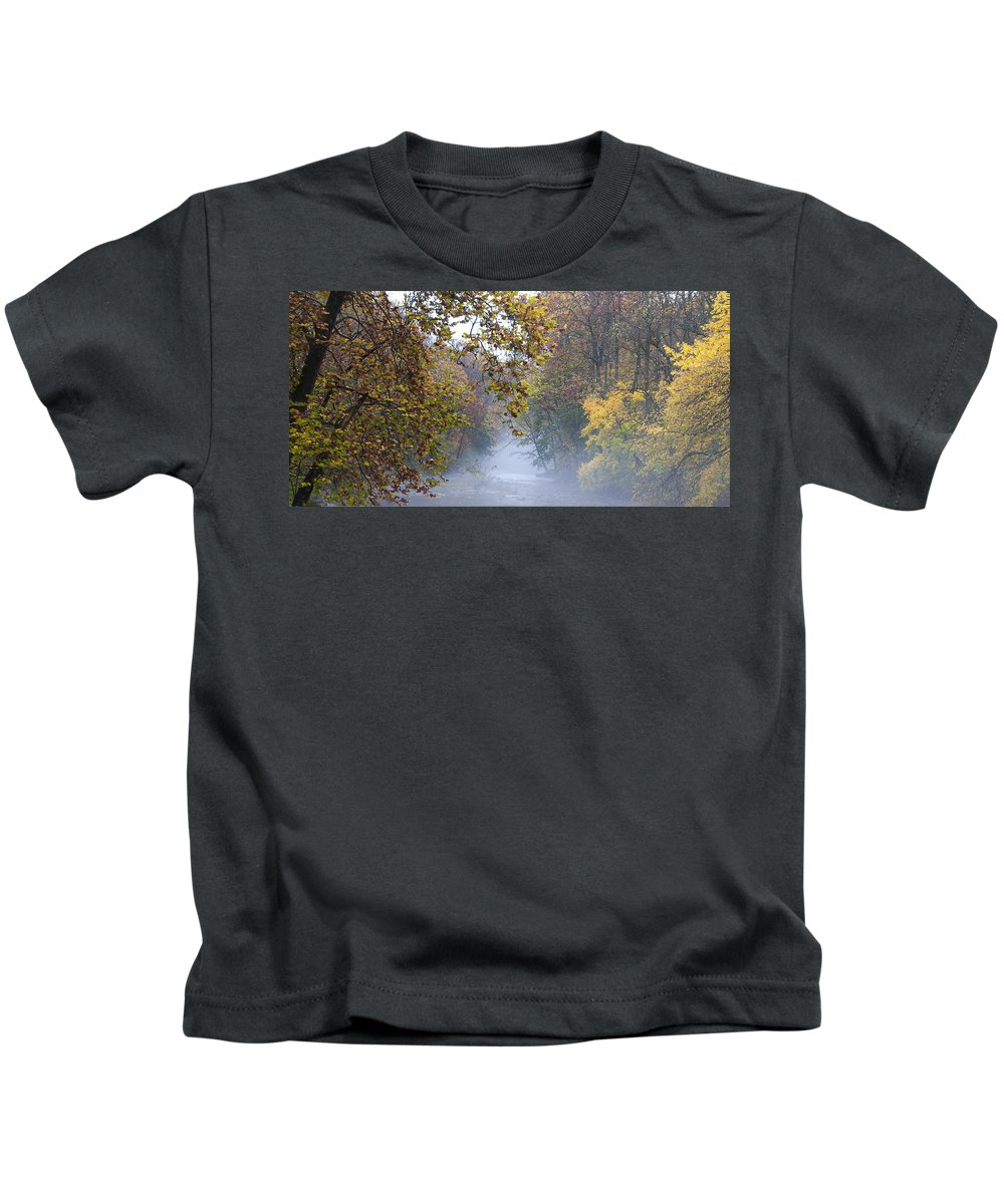 Into The Mist Kids T-Shirt featuring the photograph Into The Mist by Bill Cannon