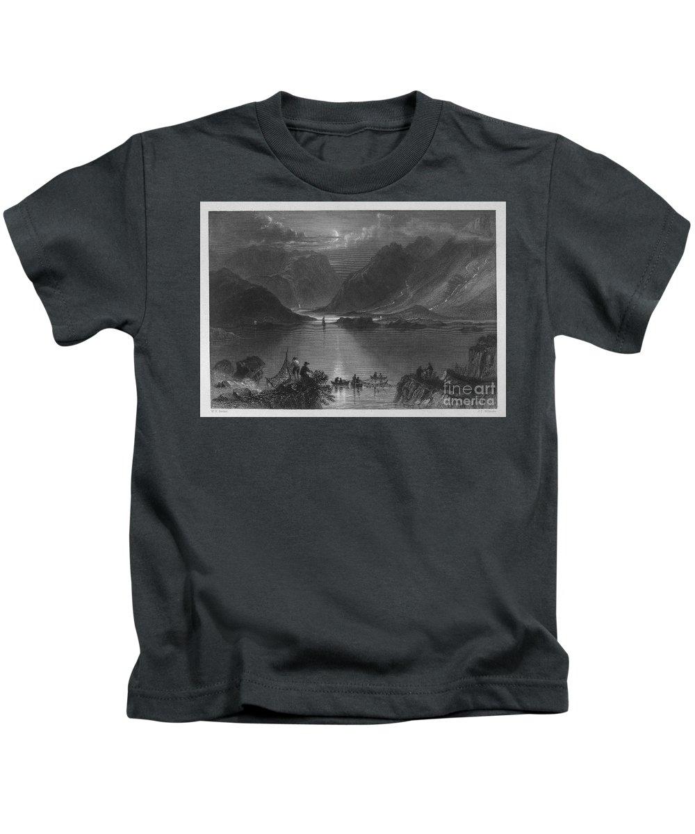 1840 Kids T-Shirt featuring the photograph Ireland: Killary Harbor by Granger