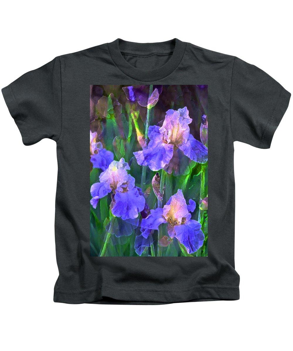 Floral Kids T-Shirt featuring the photograph Iris 51 by Pamela Cooper