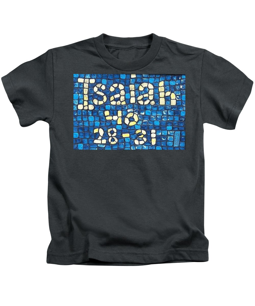Christian Kids T-Shirt featuring the painting Isaiah 40 28-31 by Cynthia Amaral