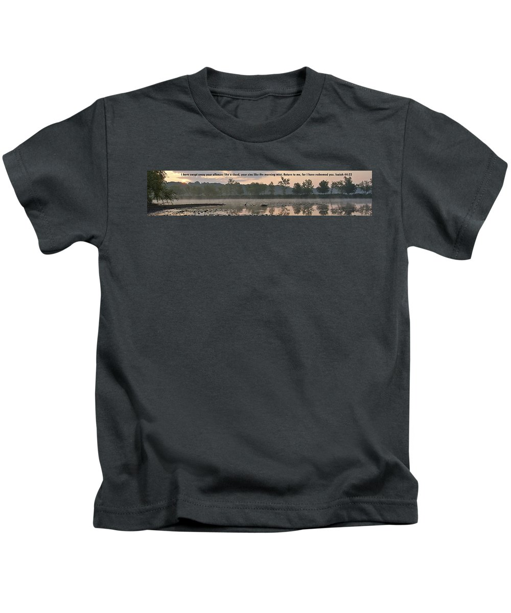 Kids T-Shirt featuring the photograph Isaiah 44 22 by Joe Faherty