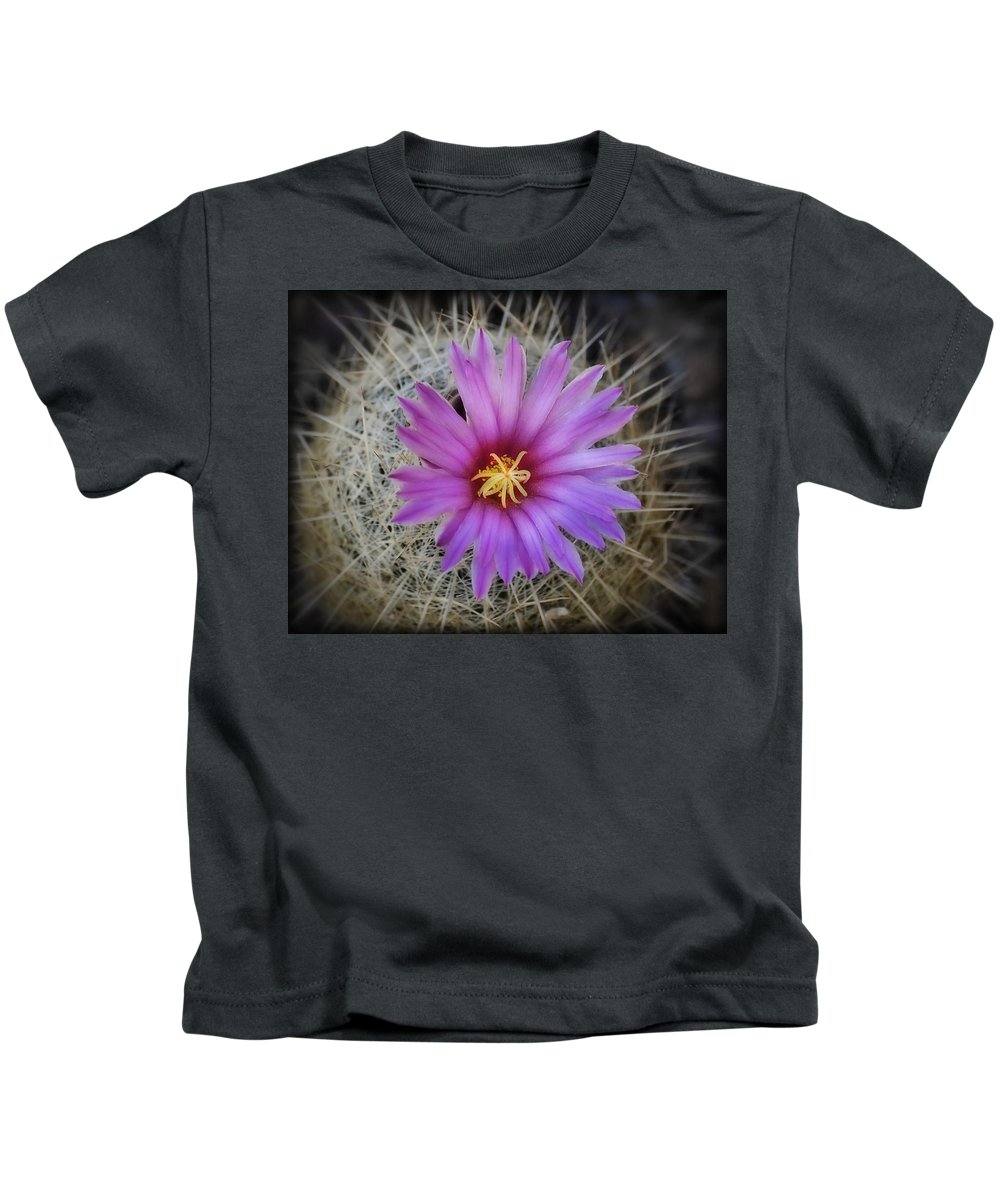 Pink Cactus Flower Kids T-Shirt featuring the photograph Just Pink by Saija Lehtonen