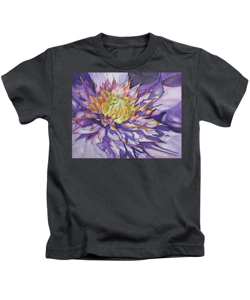 Watercolor Kids T-Shirt featuring the painting Kaleidoscope by Christiane Kingsley