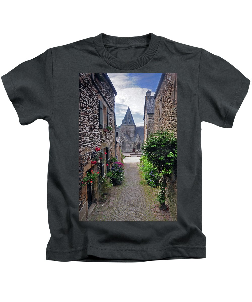 Church Kids T-Shirt featuring the photograph Leading To The Church Provence France by Dave Mills