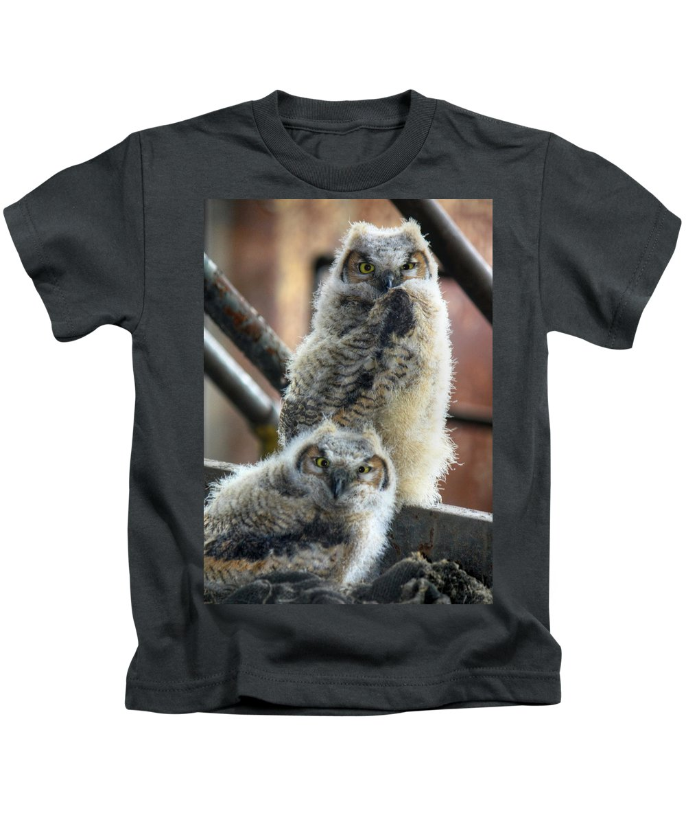 Bird Kids T-Shirt featuring the photograph Life After People by Lori Deiter