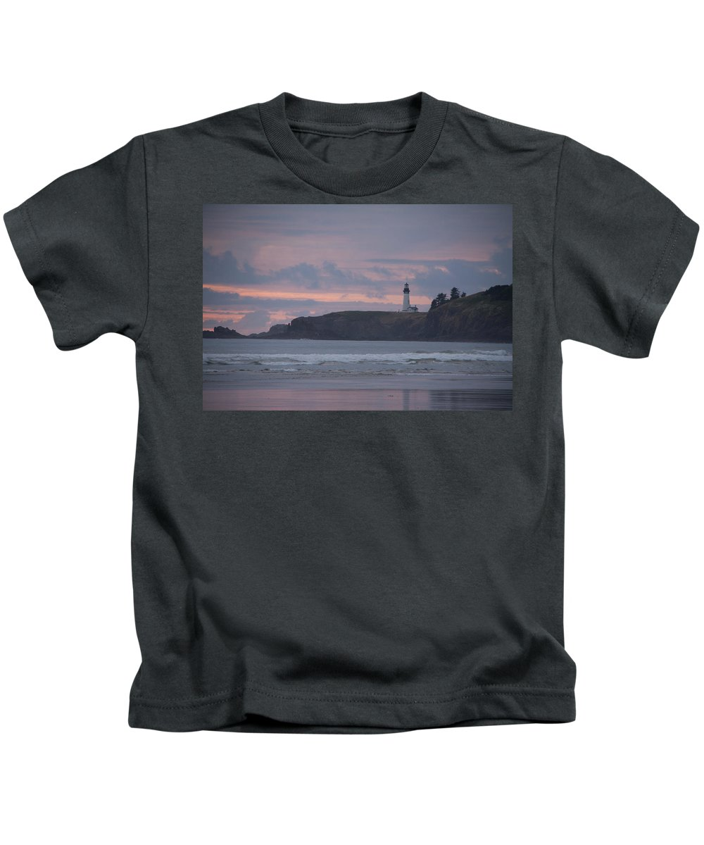 Beach Kids T-Shirt featuring the photograph Light House by Rebecca Akporiaye