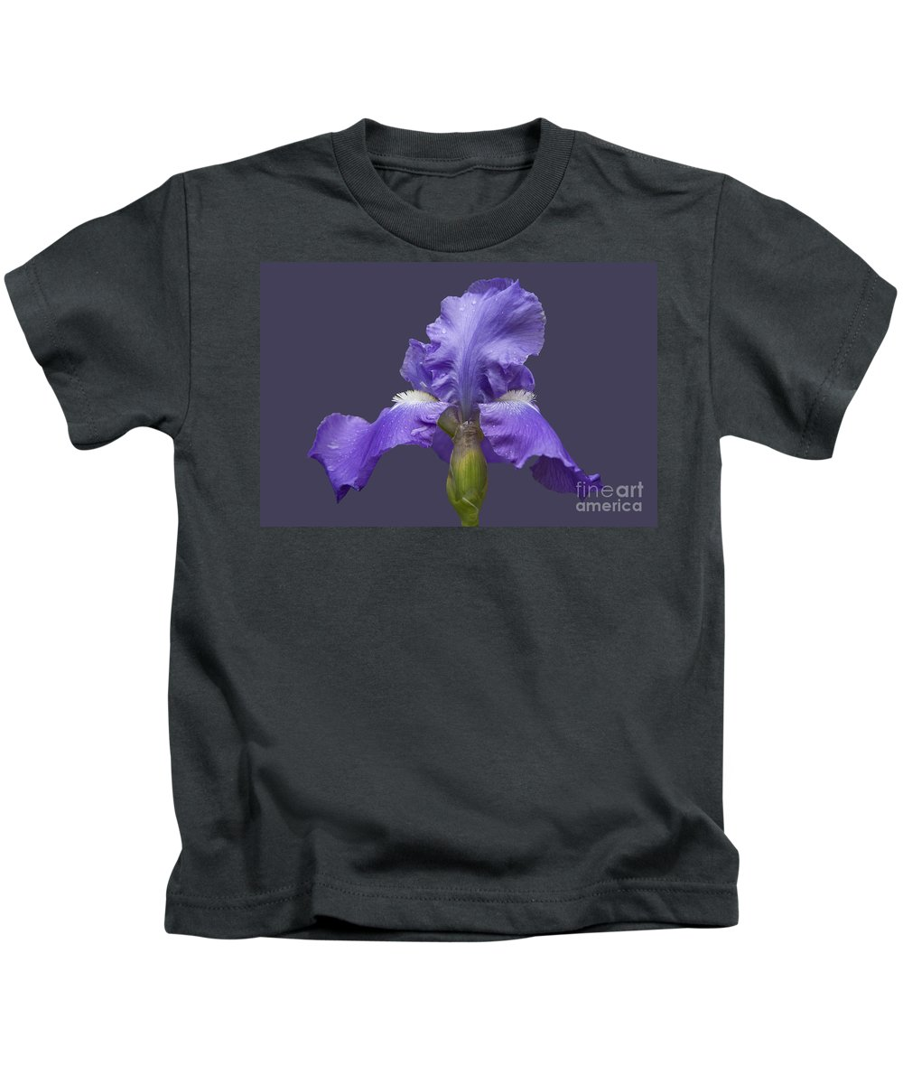 Nature Kids T-Shirt featuring the photograph Lilac Iris by Heiko Koehrer-Wagner