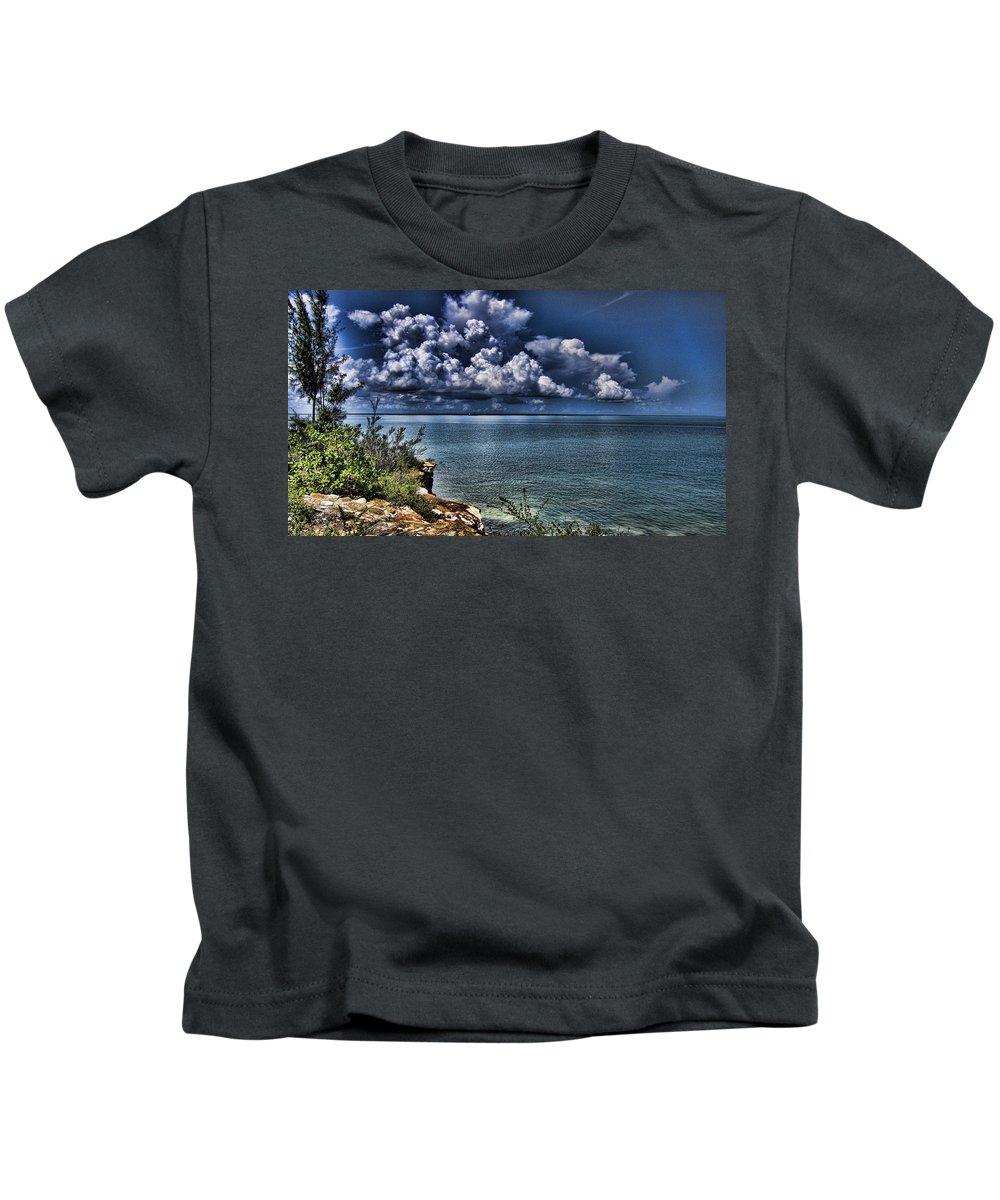 Cumulus Kids T-Shirt featuring the photograph Lingering Clouds by Douglas Barnard