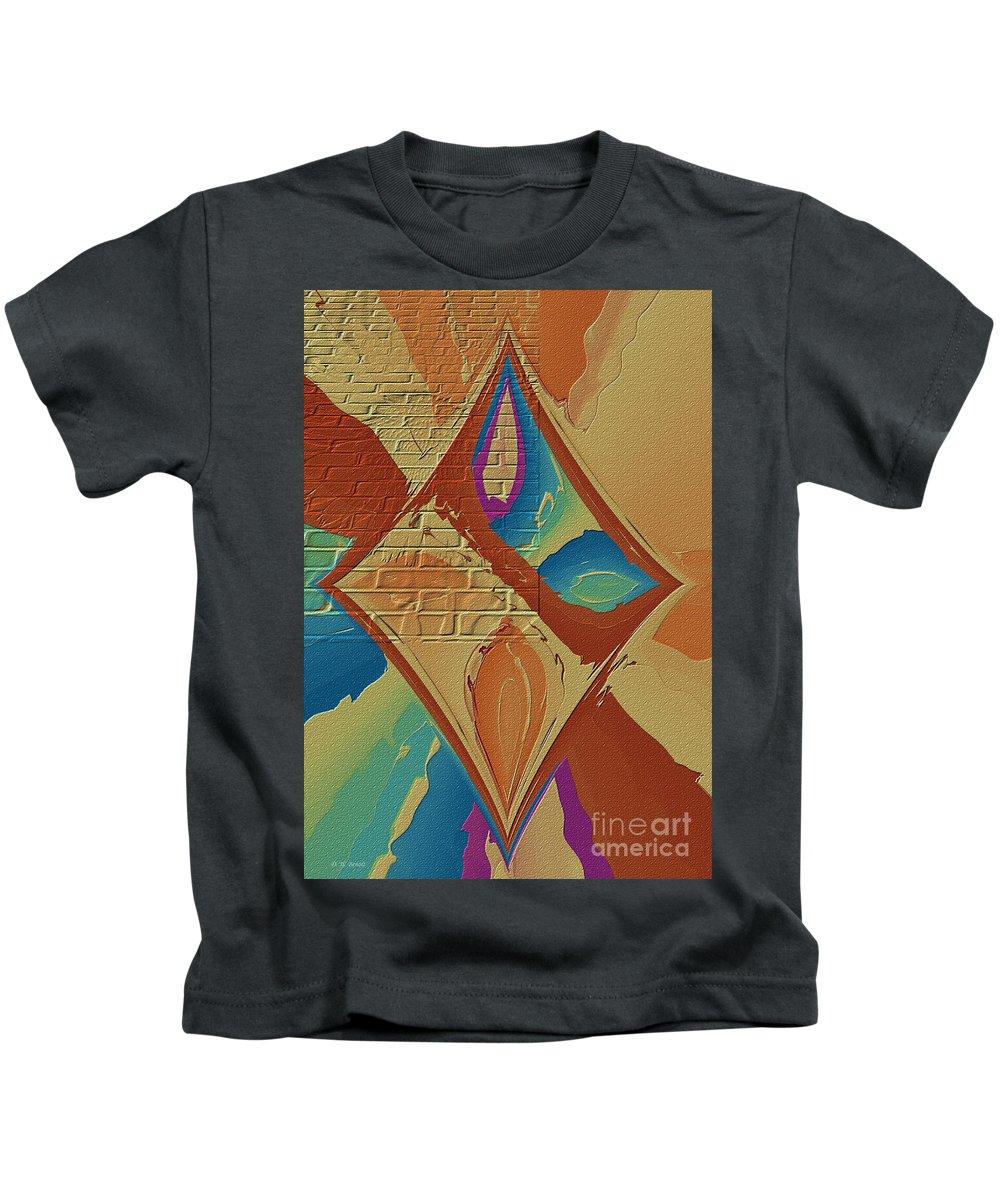 Abstract Kids T-Shirt featuring the photograph Look Behind The Brick Wall by Deborah Benoit